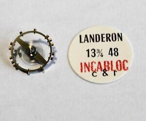 VINTAGE MONTRE BALANCIER COMPLET LANDERON 13¾ 48 INCABLOC C & R