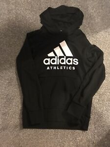 Adidas  Athletics Large Logo Hoodie Black Size Medium