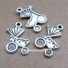 20pc Tibetan Silver Charms Pram Baby Carriage Pendant Jewellery Making PL237
