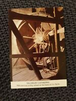 Salisbury Cathedral, Pulley Wheel at Base of Spire - Vintage Postcard