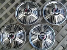 1965 65 FORD MUSTANG SPINNER HUBCAPS WHEEL COVERS  CENTER CAPS ANTIQUE VINTAGE