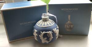 WEDGWOOD 2020 BLUE & WHITE JASPER XMAS CHRISTMAS BAUBLE JOY REF 1051652 MIB