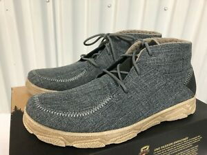 Red Wing Shoe Irish Setter Traveler Chukka Boots Blue Breathable CANVAS 9.5 3814
