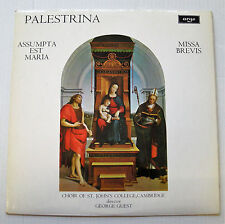 PALESTRINA missa assumpta - missa brevis LP 1972 ARGO Choir St. John's College