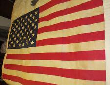 VINTAGE AMERICAN FLAG PREMIER USA COTTON BUNTING 50 STAR ANNIN CO 35X57 EAGLE
