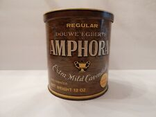 Vintage Douwe Egberts Amphora Extra Cavendish Pipe Tobacco Tin Can Brown Holland