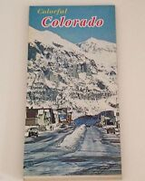 Vintage Colorado Road Map 1976 Centennial State Travel Souvenir