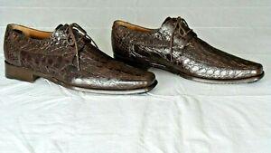 NICE! $1000+ MEZLAN PLATINUM Genuine Crocodile Alligator Boots Loafers Shoe 10.5
