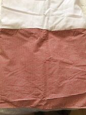 Vintage Waverly Red Gingham Check QUEEN Bedskirt EUC