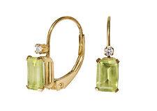 Ohrringe aus 585er Gelbgold, Peridot und Diamanten