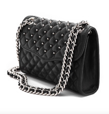 Rebecca Minkoff Quilted Mini Leather Affair Studs Shouder Bag Black Women 2031