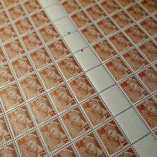 FEUILLE SHEET TIMBRE TYPE MERCURE N°477 x100 1941 NEUF ** LUXE MNH