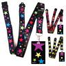 High quality ID badge holder RAINBOW STARS & Secure Lanyard neck strap soft