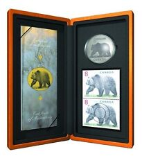 2004 - The Great Grizzly - $8.00 Coin & Stamp Set - Early Stamp #5,330 of 25,888