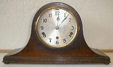 German Oak Westminster Chime Tambour Mantle Clock by Gebr. Peterson
