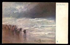 Wild Weather artist drawn Prof Van Hier Tuck 2573 Vintage u/b PPC gold edged
