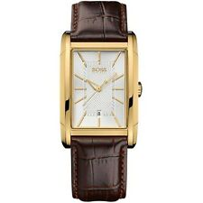 **NEW** MENS HUGO BOSS LEATHER GOLD CLASSIC  WATCH - 1512618 - RRP £189