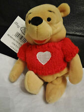 Pooh bean bag Valentines Day Pooh with red sweater with heart
