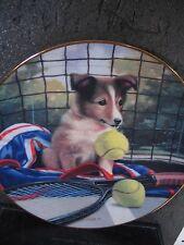 Good Sports Jim Lamb NET PLAY Dog Tennis Ltd Ed Plate