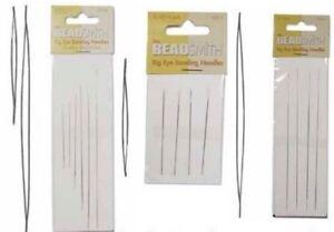 Big Eye Beading Needles  Perfect for bead threading: various sizes BEADS & TOOLS