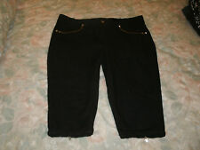 Out Jeans ladies black stretch cropped jeans size 16
