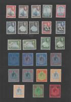 BERMUDA 1938-53 KGVI SET OF 25 (INC. COLOUR & PERF. CHANGES) MINT