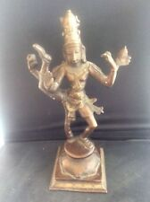 Antique c19th Indonesian Indian Bronze Statue Figure Shiva Nataraja Buddha Deity