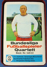 Quartett - Bundesliga Fußballspieler - FX SCHMID Nr. 54922 - FXS - Bergmann