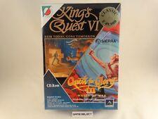 KING'S QUEST VI + QUEST FOR GLORY III PC BIG BOX ITALIANO LEADER NUOVO SIGILLATO