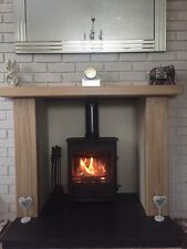 SOLID OAK BEAM FIRE SURROUND - INGLENOOK FIREPLACE - STOVES - CHOICE OF FINISHES