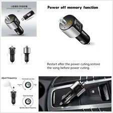 Auto SUV Handsfree Wireless Bluetooth Kit Radio Adapter USB Charger MP3 Player