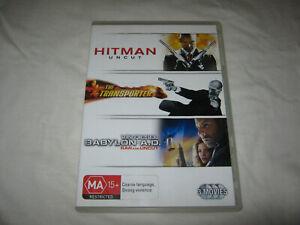 Hitman: Uncut + The Transporter + Babylon A.D. VGC - DVD - R4