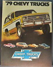 1979 Chevrolet Truck Brochure Pickup Blazer Suburban El Camino Van LUV Original