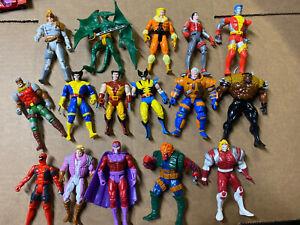 1991 1992 1993 Toy Biz Marvel X Men Magneto  Wolverine Action Figures Lot of 16