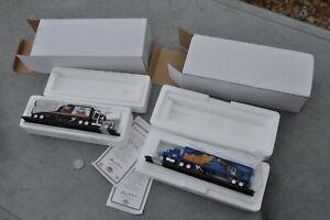 HO Scale 1/87 Matchbox Mattel MINT PAIR 18 wheeler Beer trucks Miller Labalt Blu
