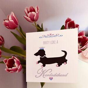 Personalised Birthday Card Sausage Dog Card Dachshund Card Daughter Sister 💕