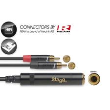 Câble 2 RCA MALE vers 1 Jack 6.35 Femelle STEREO Rean By Neutrik AG