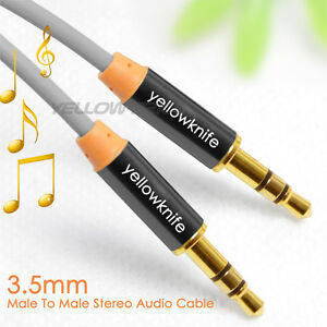 3.5mm Stereo Jack to Jack Audio Cable-24K Gold Plated-Hi Quality-Stereo Aux Cabl