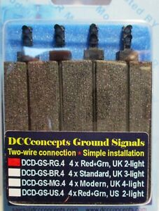 DCC Concepts DCD-GS-RG.4 - 4 x 2-wire Red & Green Ground Signals