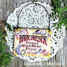 Mini Gift Sign Ornament Hairdresser Appreciation Hair Stylist Sign DecoWords US
