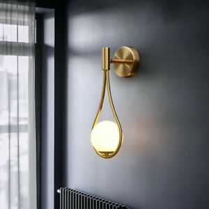 Ava Bellucci Gold Minimalist Teardrop Vanity Wall Light Stunning Modern Design