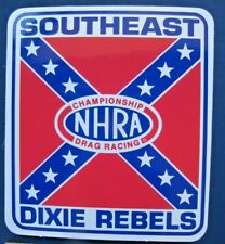 NHRA SOUTHEAST DIVISION 2 DIXIE REBELS Championship Drag Racing DECAL - Genuine