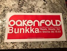 2002 Paul Oakenfold Bunkka Promo Poster 2-Sided Rare New Old Stock 12X24