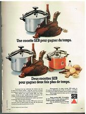 Publicité Advertising 1974 Autocuiseurs cocotte minute SEB