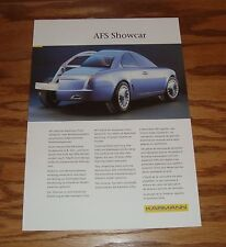 Original 1999 Karmann AFS Showcar Fact Sales Sheet Brochure 99