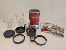 Frullatore NutriBullet Magic Bullet rosso NB-WL012-23 con accessori e ricettari
