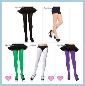 Leg Avenue 7666 PLUS Tall Opaque stockings tights Black Nude Purple White Green