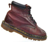 Dr. Martens Brown Leather Lace Up Ankle Boots Air Cushion Soles Women's 7