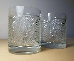 Ralph Lauren SAFARI Signature Collection Lion Crest Whiskey Glasses Set of 2