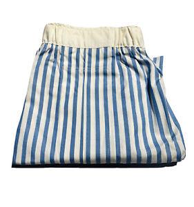Sulka 100% Cotton Blue White Striped Men's Boxer Shorts Underwear